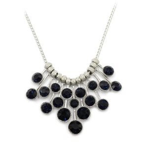 Fashion pendant blue circle crystal necklace